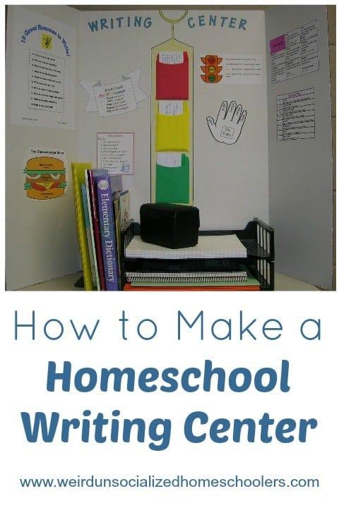 How to Make a Homeschool Writing Center