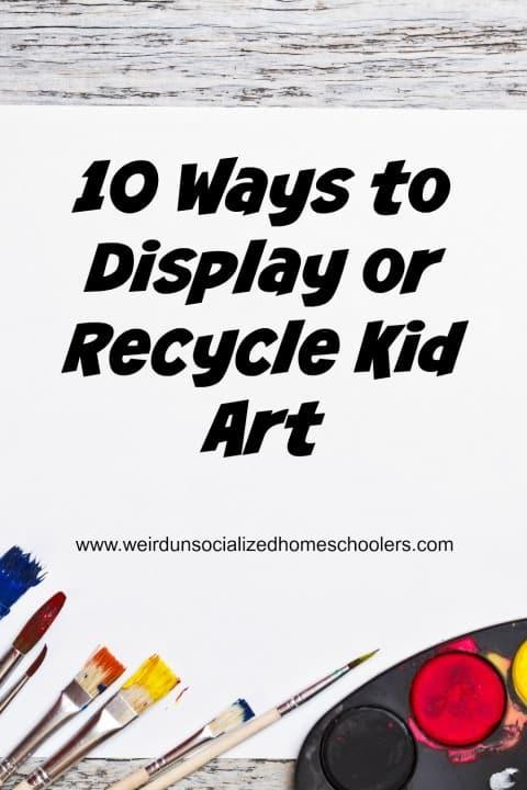 ways to display kid's art