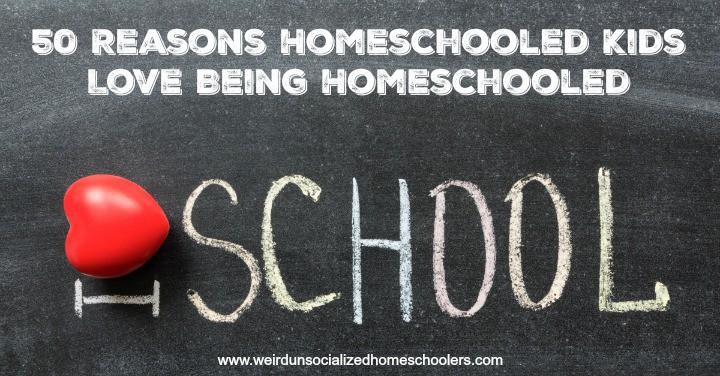 50 Reasons Homeschooled Kids Love Being Homeschooled