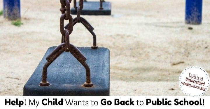 Homeschooled Child Wants to Go to Public School