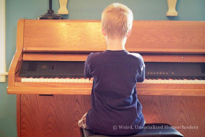 Hoffman Academy piano playing