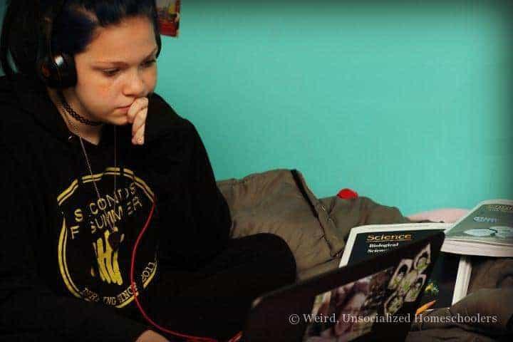 homeschooled teens schedules