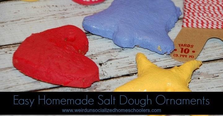 Easy Homemade Salt Dough Ornaments