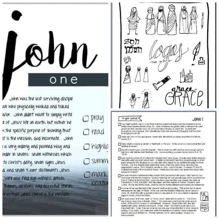 John Bible study sample pages