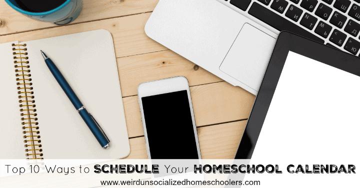 homeschool calendar schedules