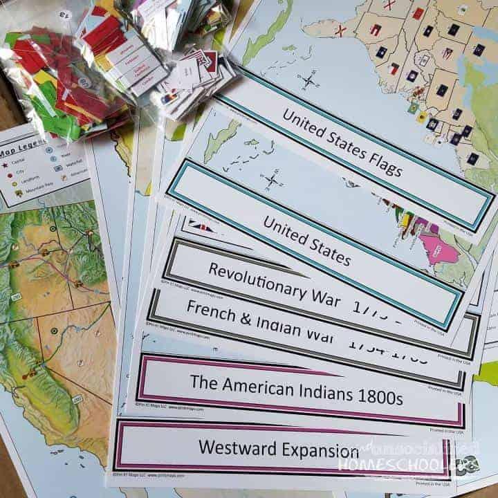 Pin It! Maps U.S. History and Geography Bundle