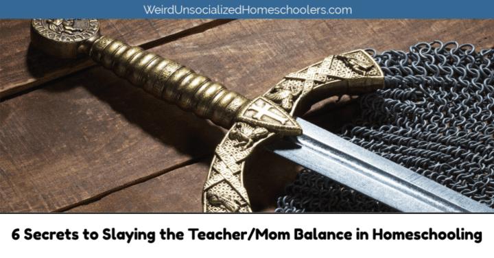 Teacher/Mom Balance in Homeschooling