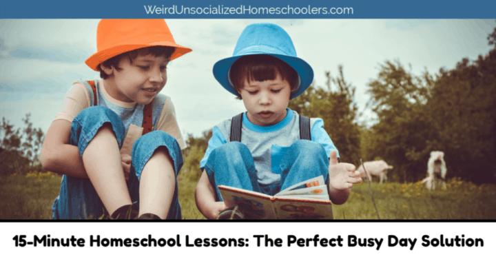 15-Minute Homeschool Lessons