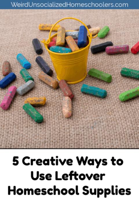 5 Creative Ways to Use Leftover Homeschool Supplies